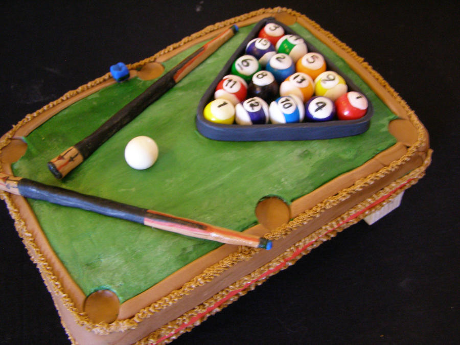 Unique Pool Table Cake By Darcyscakes ...