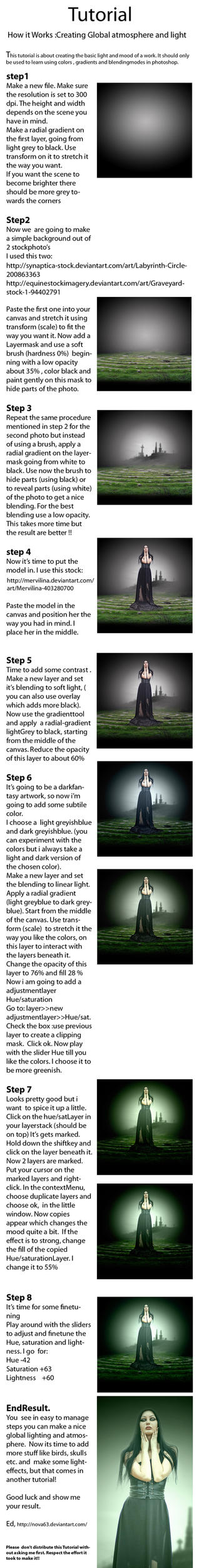 Tutorial Light and Mood  (Photoshop) by ED-Creations