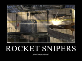 Snipers Motivational Poster by GoofyTooth