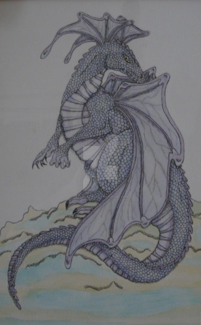 Amethyst Dragon -male- by EvilScarrlett