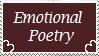 Emotional Poetry by EvilScarrlett