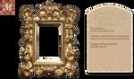 Miniature Ornate Golden Mirror by Meramatita