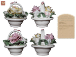 Miniature Ceramic Basket of Flowers