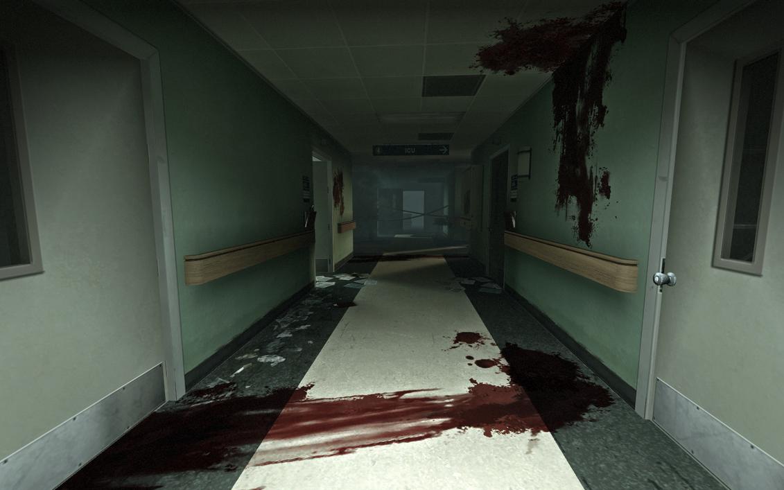 Bloody Abandoned Hospital Room