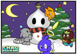 Chao Island Christmas Colouring Page Submission by Vocalist2D