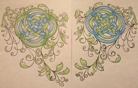 Soul Sister Knotwork Tattoos by AzureIvy