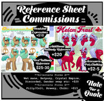 [OPEN] Reference Sheet Commission List