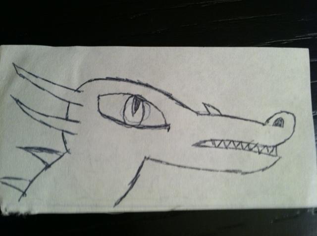 Dragon drawing by Maverickhunter2