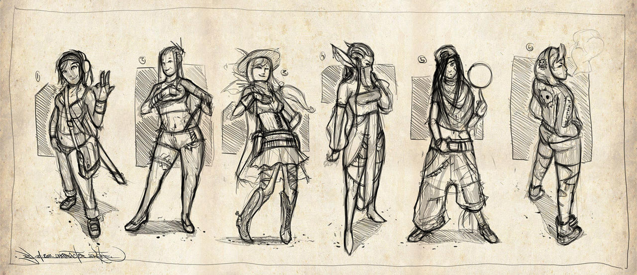 Character Design Sketches By Ranoartwork On DeviantArt
