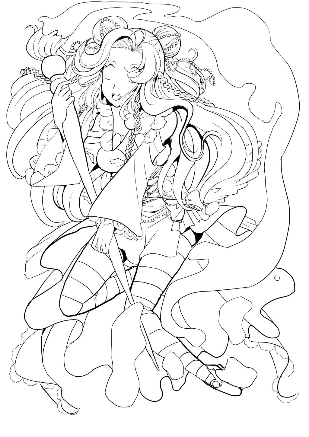 Line Drawing Rainbow : Rainbow draw this again lineart by twinkiesama on deviantart