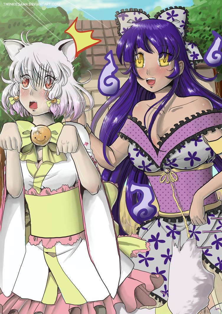 Sakura And Sayuri by Twinkiesama
