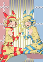 Minun And Pluse by Twinkiesama