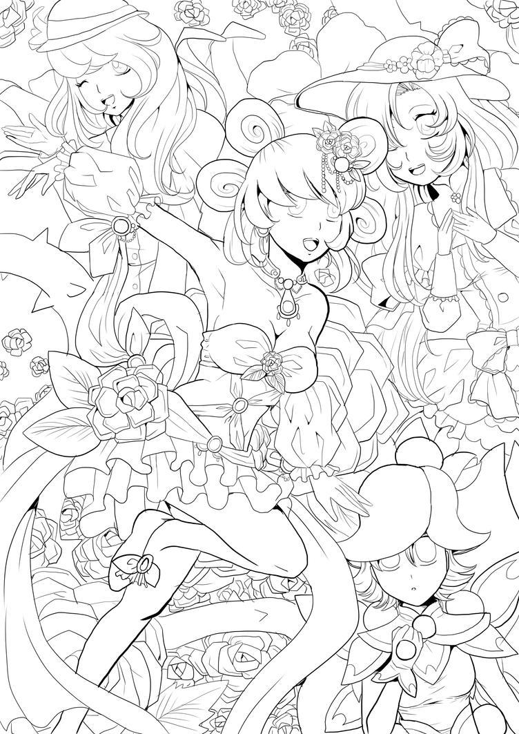 Waltz Of The Flowers lineart by Twinkiesama