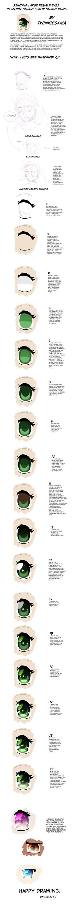 Eye Tutorial for Manga Studio by Twinkiesama