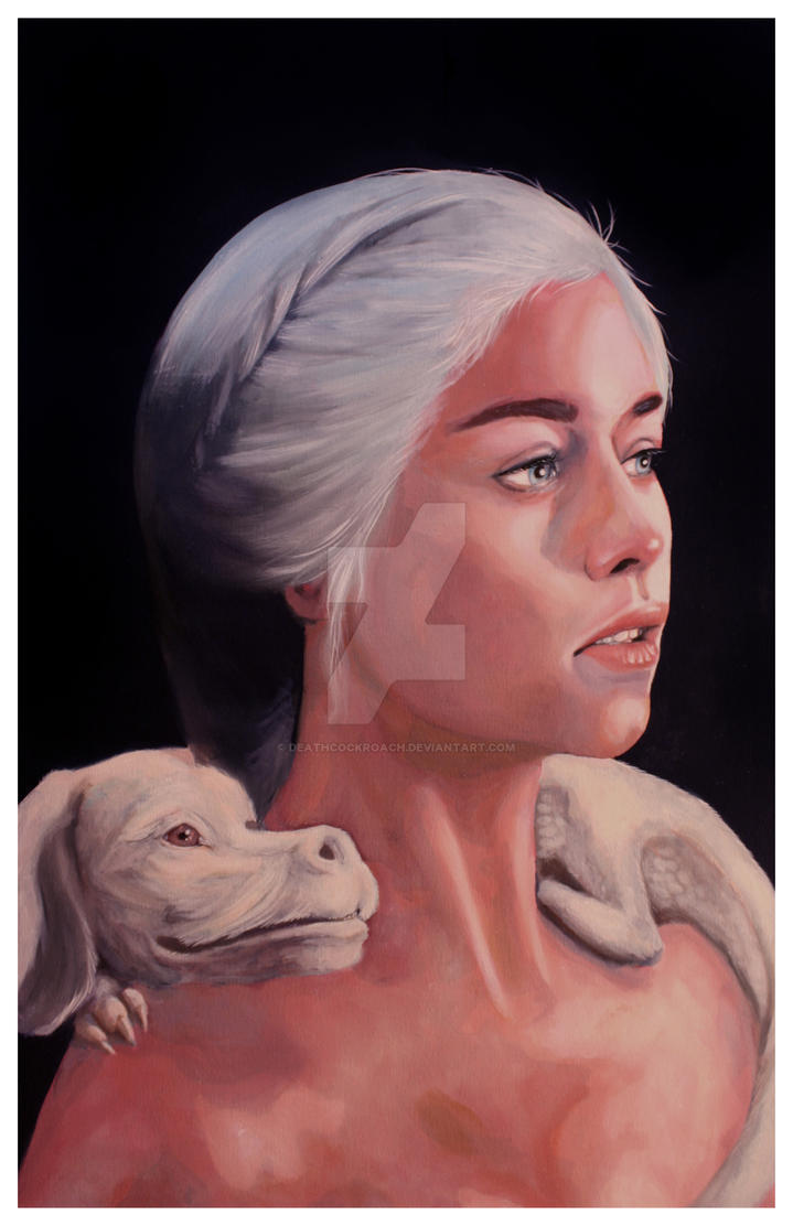 Mother Of Falcor oil on canvas 24x36 by deathcockroach