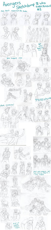 Avengers Sketchdump # who knows 2