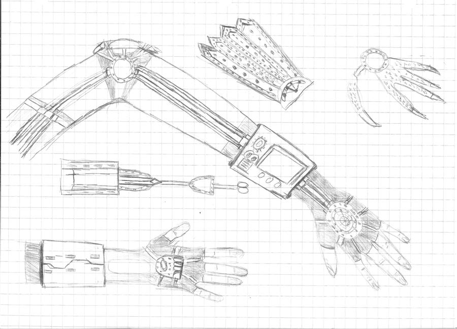 steampunk arm concept by aerobible on deviantart