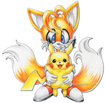 Tails and Pikachu