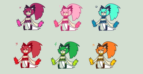 Jelly Girl Thing Adoptables! by SEXYFOXGURLX3