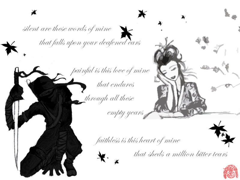 Ninja Love Poem X3 by PopClicK