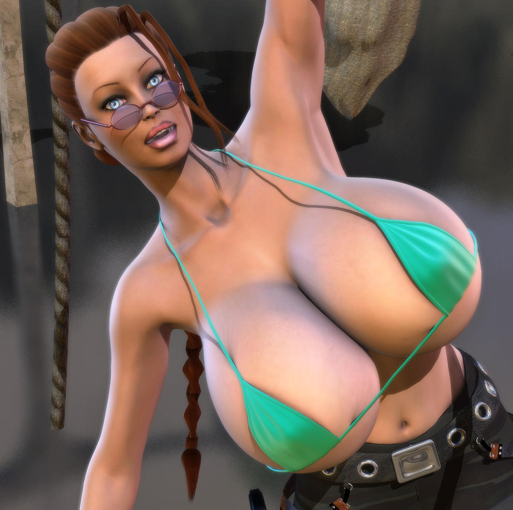 Lara Croft Huge Tits 45
