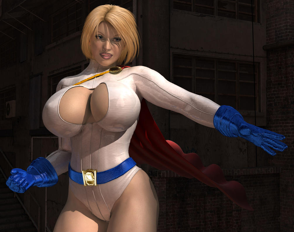 Congratulate, what big boob power girl cosplay have