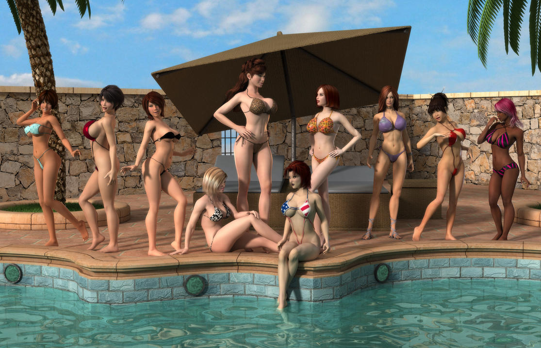 The Others Pool Party by willdial