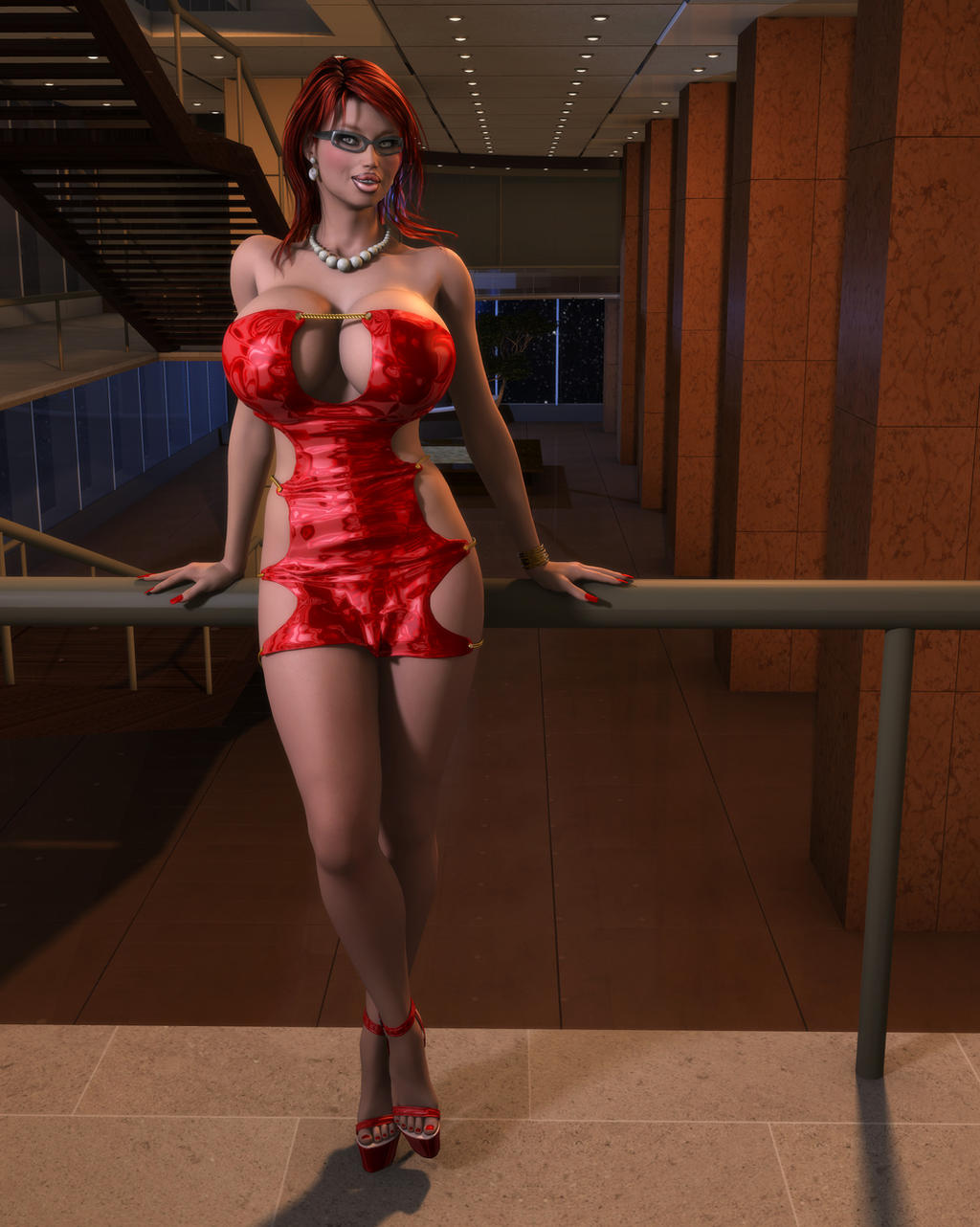 Melina in Red by willdial