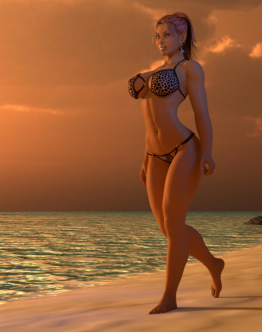 Silieva Sunset Walk by willdial