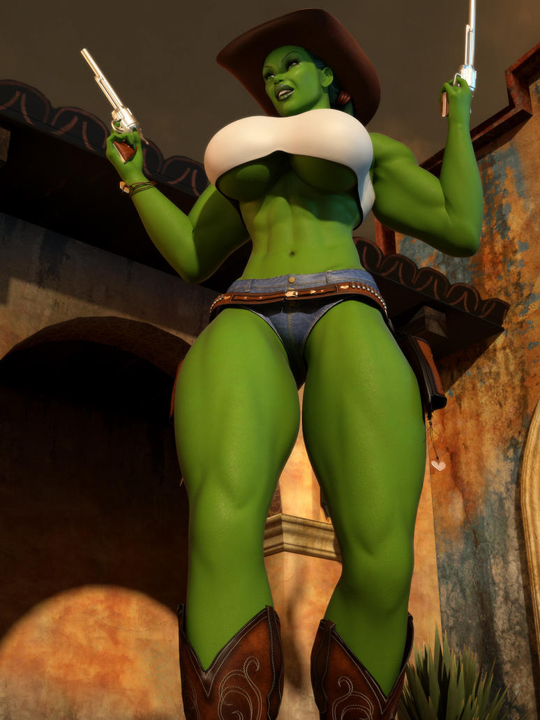 Cowgirl She Hulk 02 by willdial