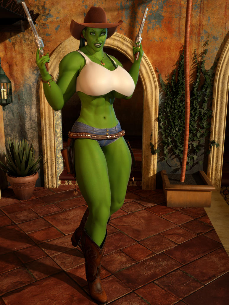 Cowgirl She Hulk 01 by willdial