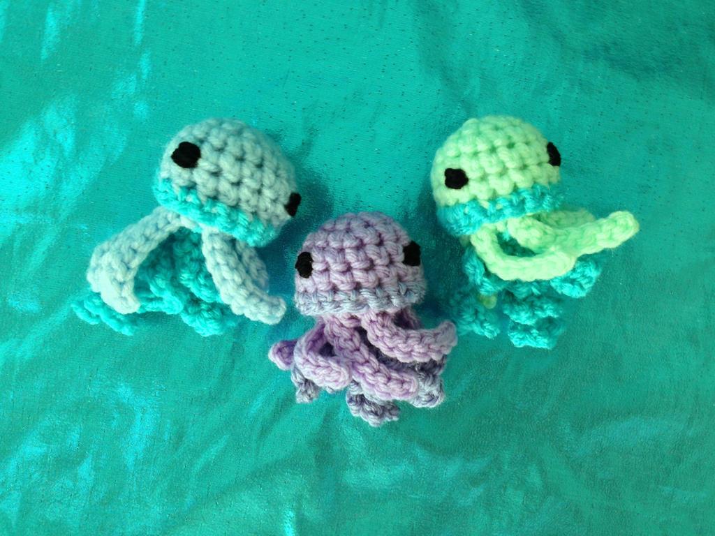 Amigurumi Jellyfish : Jellyfish Amigurumi by highfiberdesigns on DeviantArt