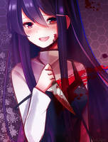 yuri with a knife kind of by PeachCak3