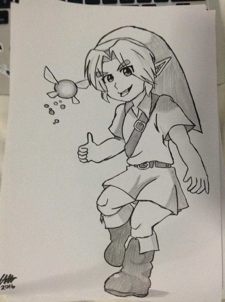 :Linktober: Young Link Portrait by bingle23