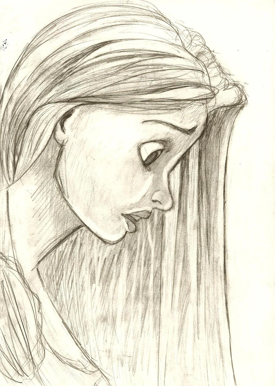 Http Otakugirl16 Deviantart Com Art Rapunzel Sketch 191284034