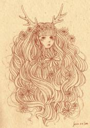Deer Nymph by CherryTemptation