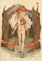 Fox Woman by CherryTemptation
