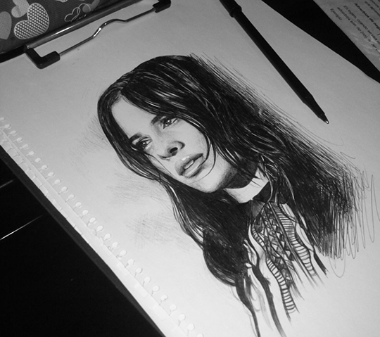camila pen drawing by stylable