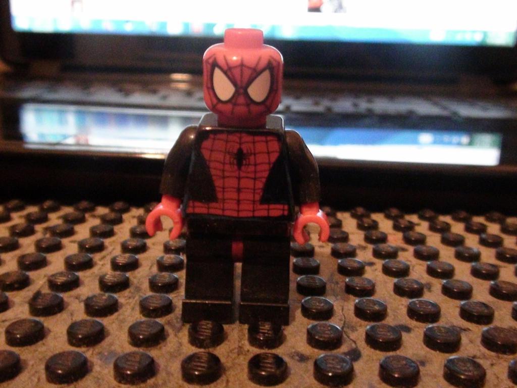 lego superior spiderman minifigure by solarpolarix on