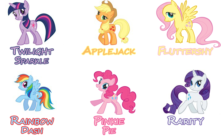Little with pony pictures names my