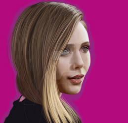 Elizabeth Olsen digital painting