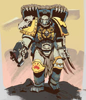 Space Wolves Assault by Wrigglybear