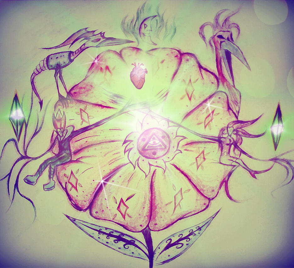 the hidden flower by svartblodartworks