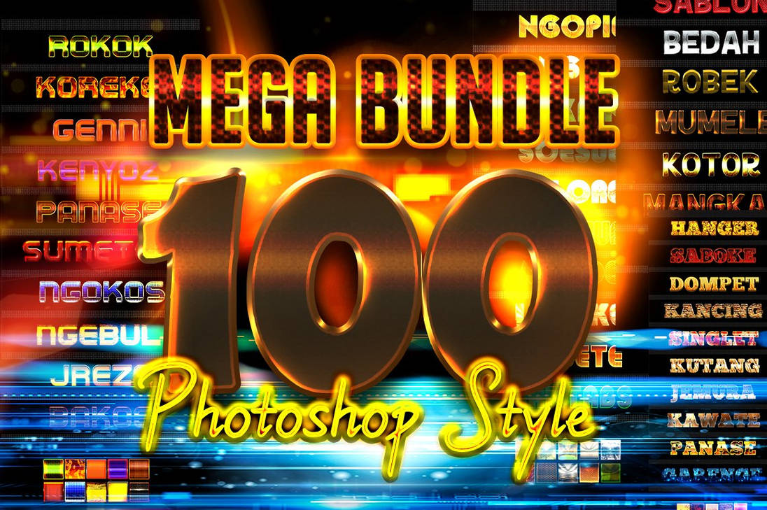 FREE - Mega bundle 100 Photoshop Styles