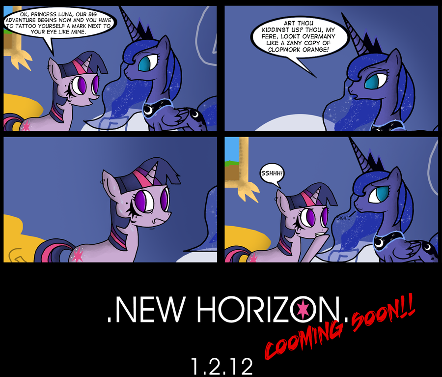 .Comic 8: New Horizon TEASER2. by ZSparkonequus