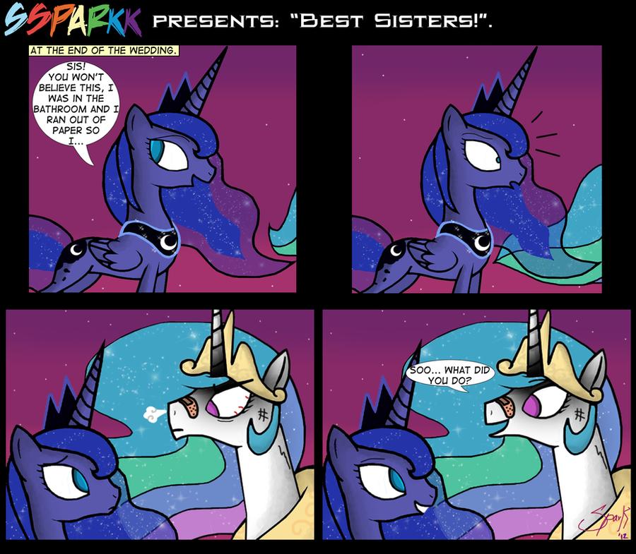 .Comic 18: Best Sisters. by ZSparkonequus