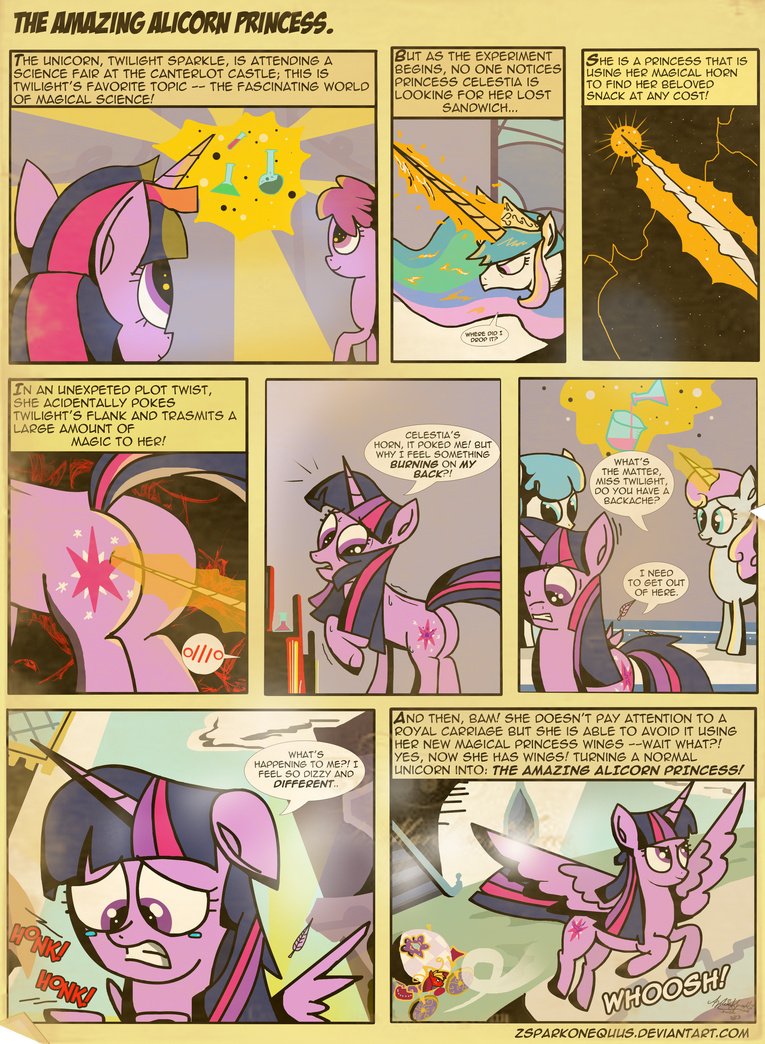 Comic 36: The Amazing Alicorn Princess. by ZSparkonequus