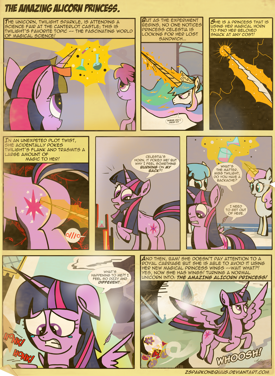 Comic 36: The Amazing Alicorn Princess. by ZSparkonequus