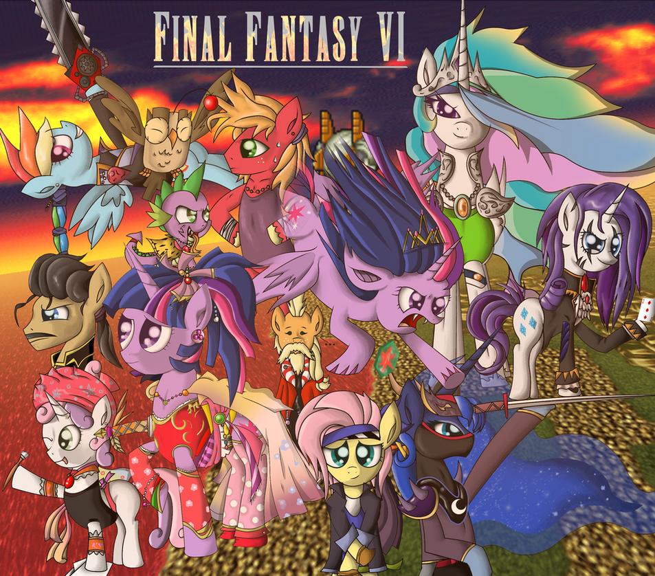Final Fantasy VI x My Little Pony FiM by ZSparkonequus
