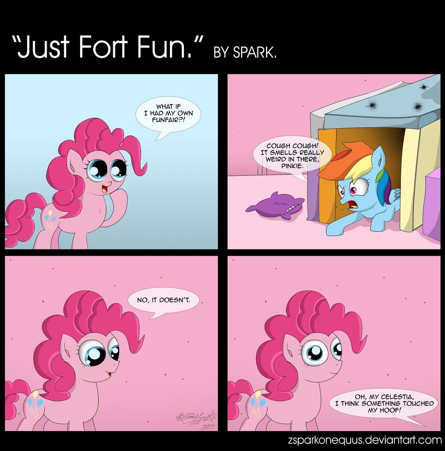 Comic 62: Just Fort Fun by ZSparkonequus